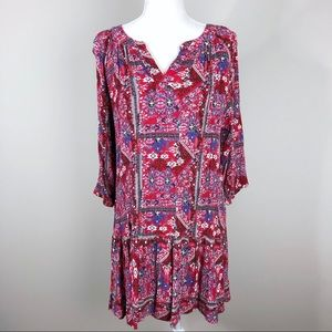 Camille & Co Boho Printed Mini Dress
